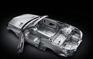modern aluminum frame car